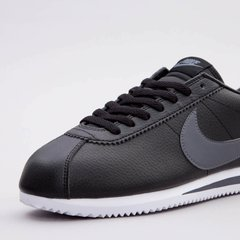 Кросівки Nike Classic Cortez Leather Black Grey Running Shoes (749571-001), 46